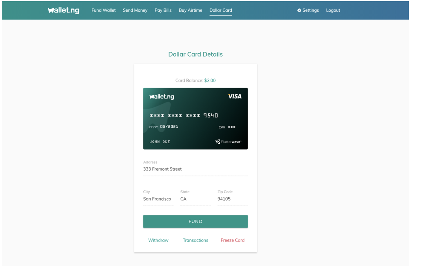 Virtual Credit Card in Nigeira