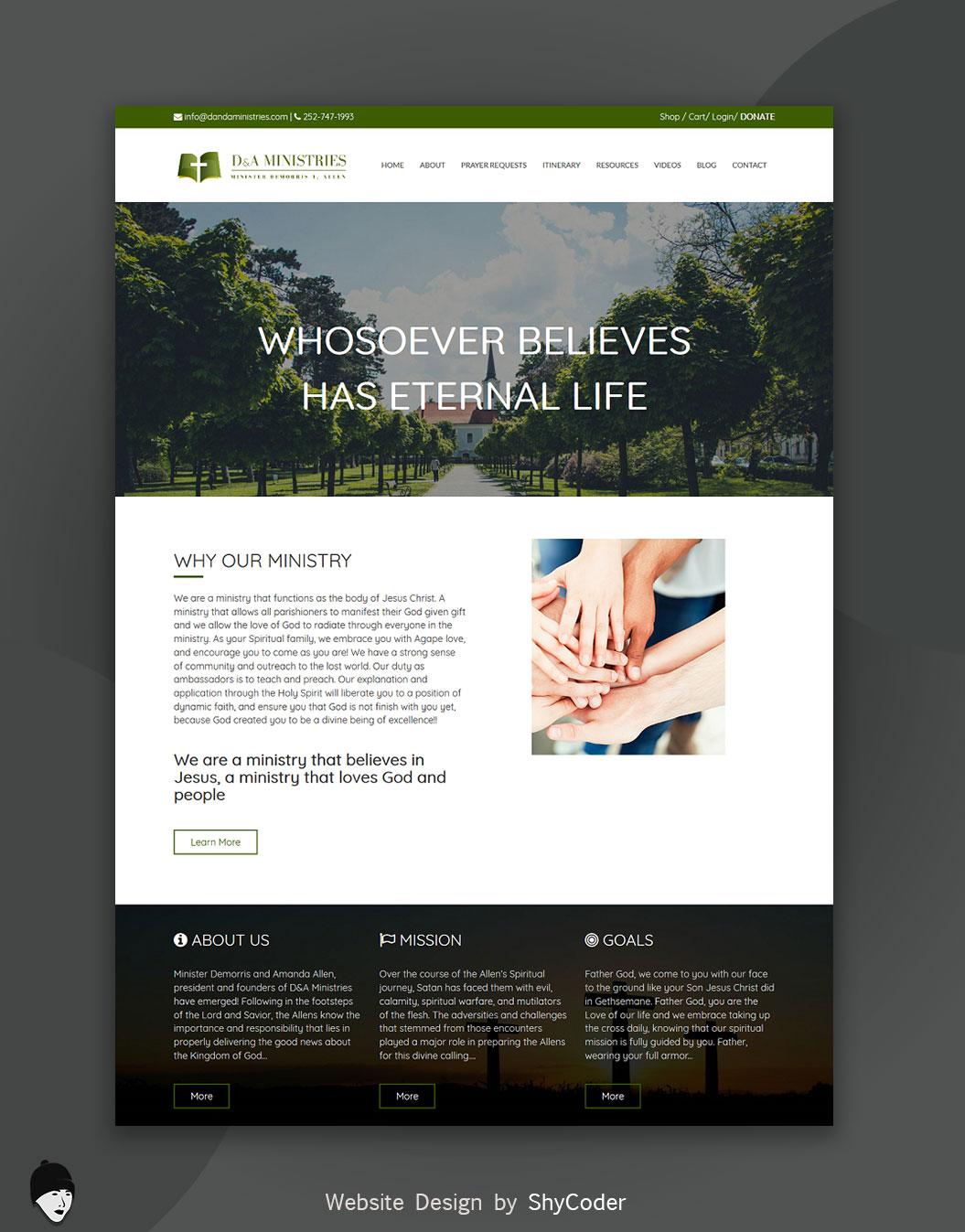 Danda Ministries Website Design