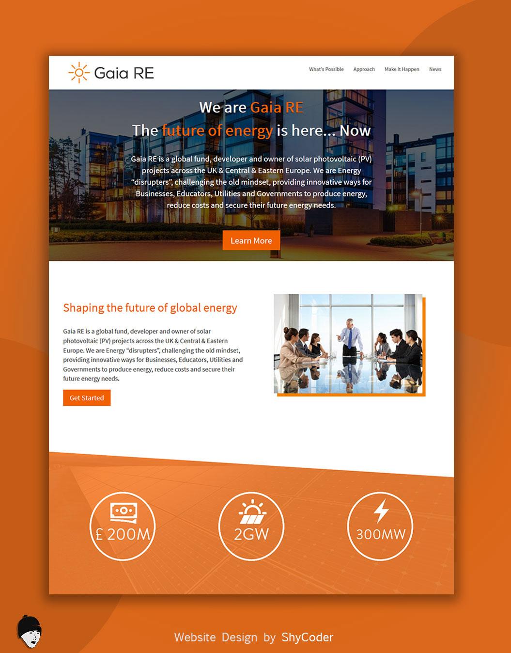 Gaia RE Website Design