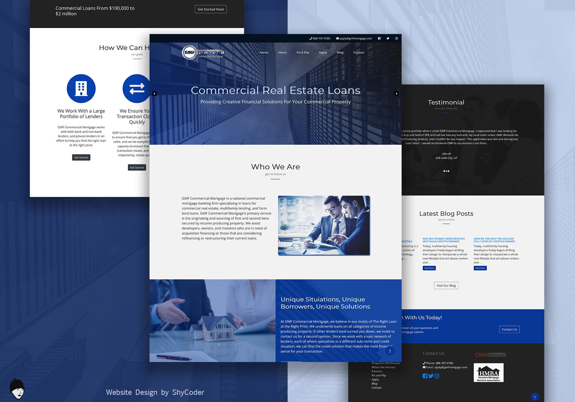 GMF Mortgage Website Design