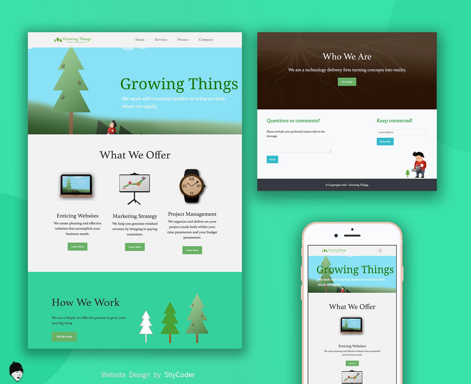Growingthings Website Design
